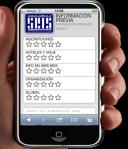 Vista del cuestionario de opinión en línea sobre el previo de Inforsalud vía móvil