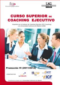 Portada del folleto del curso superior de Coaching ejecutivo