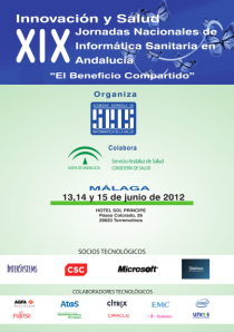 Portada del programa de las Jornadas de Informática Sanitaria en Andalucía 2012