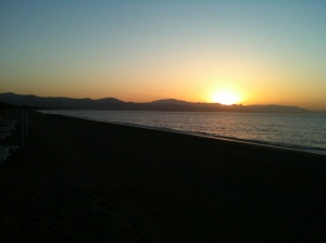 Amanecer en Torremolinos (Málaga) el primer día de JISA2012