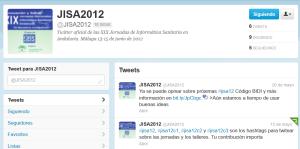 Imagen de la cuenta Twitter de las Jornadas Informática Sanitaria en Andalucía