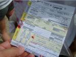 Tarjeta de triaje final de un paciente evacuado como rojo