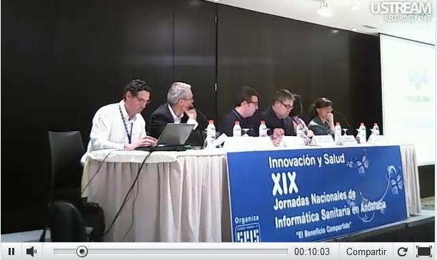 Vídeo sobre el taller D. XIX Jornadas Informática Sanitaria en Andalucía. 14 de junio de 2012