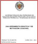 Trabajo Fin de Master de Ana Berlana sobre coaching en Educación