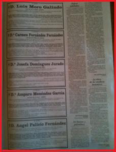 Una página de esquelas funerarias en un periódico