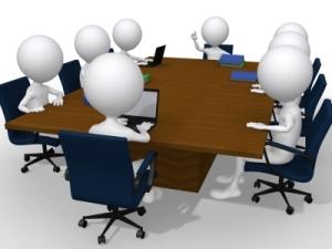 Dibujo 3D sobre una reunión